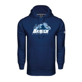 College Under Armour Navy Performance Sweats Team Hoodie-Baruch Athletics