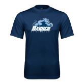 College Performance Navy Tee-Baruch Athletics