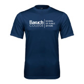 College Performance Navy Tee-School of Public Affairs Stacked