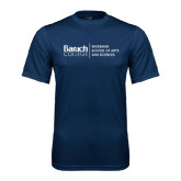 College Performance Navy Tee-Weissman School of Arts Stacked