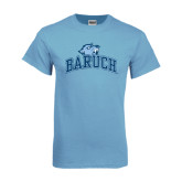 College Light Blue T Shirt-Baruch Arched