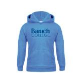 College Youth Light Blue Fleece Hoodie-Official Logo