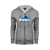 ENZA Ladies Grey Fleece Full Zip Hoodie-Dance Team