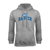 College Grey Fleece Hoodie-Baruch Arched