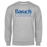 College Grey Fleece Crew-Official Logo