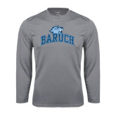 College Performance Steel Longsleeve Shirt-Baruch Arched