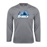 College Performance Steel Longsleeve Shirt-Baruch Athletics