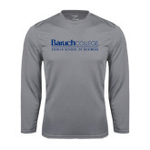 College Performance Steel Longsleeve Shirt-Zicklin School of Business