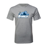 Grey T Shirt-Baruch Athletics