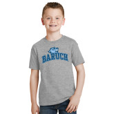 Youth Grey T-Shirt-Baruch Arched