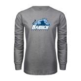 Grey Long Sleeve T Shirt-Baruch Athletics