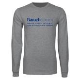 Grey Long Sleeve T Shirt-School of Public Affairs