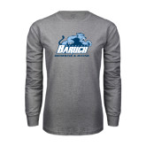 Grey Long Sleeve T Shirt-Swimming and Diving