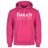 College Fuchsia Fleece Hoodie-Official Logo