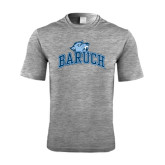 Performance Grey Heather Contender Tee-Baruch Arched