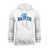 College White Fleece Hoodie-Baruch Arched