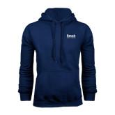College Navy Fleece Hoodie-Official Logo