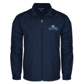 Full Zip Navy Wind Jacket-Baruch Arched