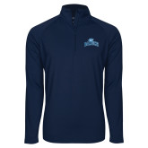 Sport Wick Stretch Navy 1/2 Zip Pullover-Baruch Arched
