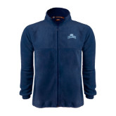 Fleece Full Zip Navy Jacket-Baruch Arched