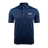 College Navy Dry Mesh Polo-Official Logo