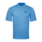 College Light Blue Mini Stripe Polo-Official Logo