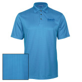College Light Blue Performance Fine Jacquard Polo-Official Logo