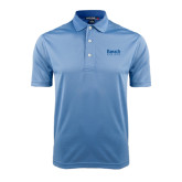 College Light Blue Dry Mesh Polo-Official Logo
