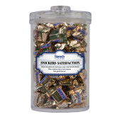 Snickers Satisfaction Large Round Canister-Official Logo Engraved