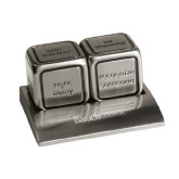 Icon Action Dice-Baruch Wordmark Engraved