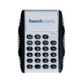 White Flip Cover Calculator-Baruch Wordmark