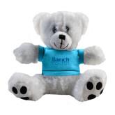 Plush Big Paw 8 1/2 inch White Bear w/Light Blue Shirt-Official Logo