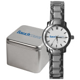 College Mens Stainless Steel Fashion Watch-Baruch Wordmark