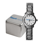 Ladies Stainless Steel Fashion Watch-Baruch Wordmark