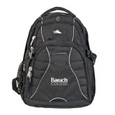 College High Sierra Swerve Black Compu Backpack-Official Logo