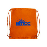Orange Drawstring Backpack-Official Logo