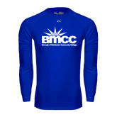 Under Armour Royal Long Sleeve Tech Tee-Official Logo