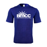 Performance Royal Heather Contender Tee-Official Logo