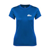 Ladies Syntrel Performance Royal Tee-Official Logo