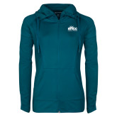 Ladies Sport Wick Stretch Full Zip Sapphire Jacket-Official Logo