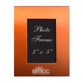 Orange Brushed Aluminum 3 x 5 Photo Frame-Official Logo Engraved