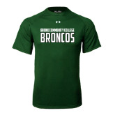Under Armour Dark Green Tech Tee-Bronx Community College Bronocs