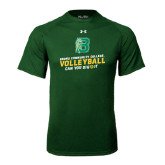 Under Armour Dark Green Tech Tee-Volleyball Design