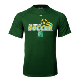 Under Armour Dark Green Tech Tee-Soccer Swoosh