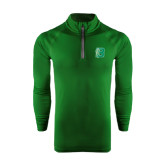 Under Armour Dark Green Tech 1/4 Zip Performance Shirt-Bronoc