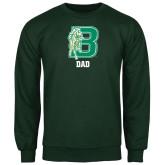 Dark Green Fleece Crew-Dad