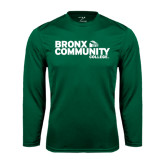 Performance Dark Green Longsleeve Shirt-Official Logo