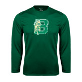Performance Dark Green Longsleeve Shirt-Bronoc