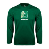 Performance Dark Green Longsleeve Shirt-Grandpa