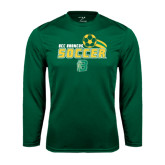 Performance Dark Green Longsleeve Shirt-Soccer Swoosh